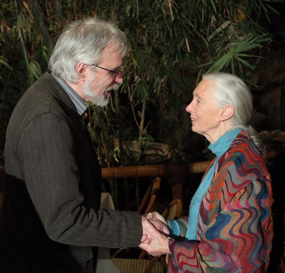 B.P. with Jane Goodall 2009 in Münster